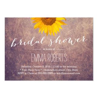 Rustic Sunflower Vintage Bridal Shower Card