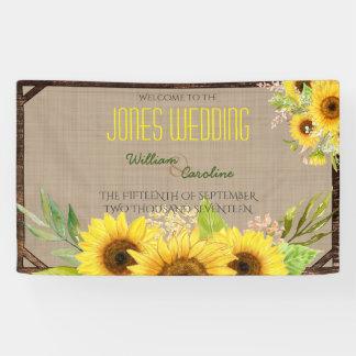 Rustic Sunflower Wedding Banner
