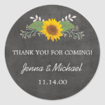 Rustic Sunflower Wedding thank you favour sticker