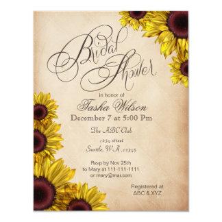 Rustic Sunflowers Bridal Shower Invitations