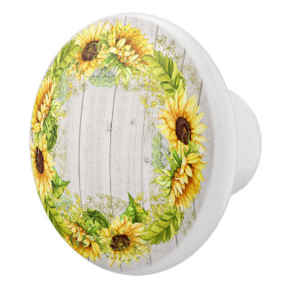 Rustic Sunflowers Cabinet / Drawer Knob