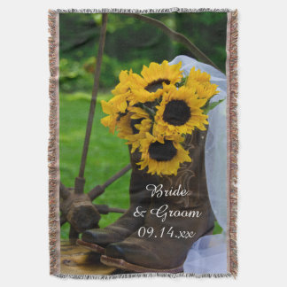 Rustic Sunflowers Cowboy Boots Country Wedding