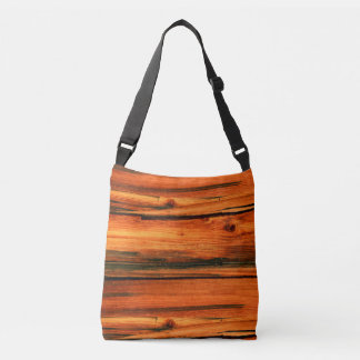 rustic tan barnwood crossbody bag