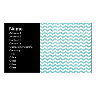 Rustic Teal Chevron Pattern Business Cards
