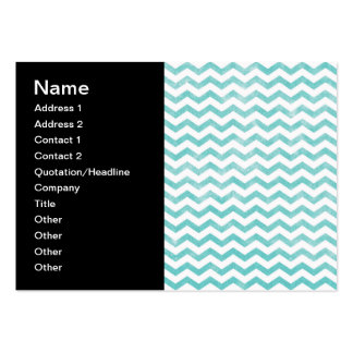 Rustic Teal Chevron Pattern Pack Of Chubby Business Cards