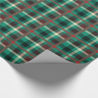 Rustic Teal Plaid Pattern Wrapping Paper
