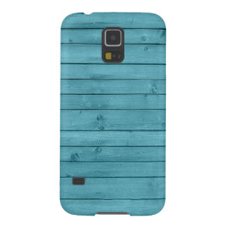 Rustic Teal Wood Galaxy S5 Cases