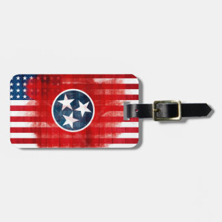 Rustic Tennessean American Flag Luggage Tag