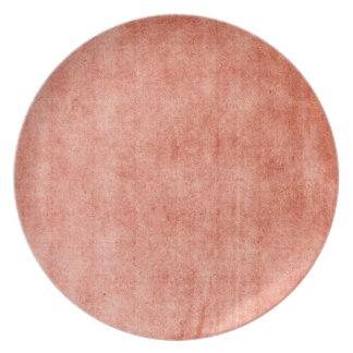 Rustic Terra Cotta Plates
