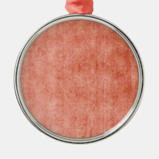 Rustic Terra Cotta Silver-Colored Round Decoration