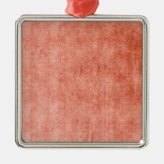 Rustic Terra Cotta Silver-Colored Square Decoration