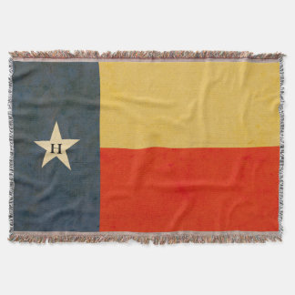 Rustic Texas Flag Personalized Throw Blanket