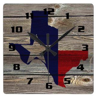 Rustic Texas on Authentic looking wood Wallclocks