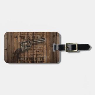 rustic texas star cowboy western country dual gun luggage tag