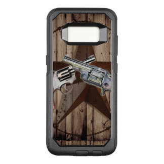rustic texas star cowboy western country dual gun OtterBox commuter samsung galaxy s8 case