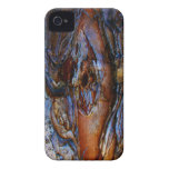 Rustic Textured Blue Brown Blackberry Bold Case