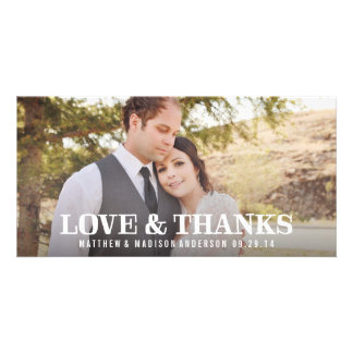 Rustic Thanks   Wedding Thank You Photo Card