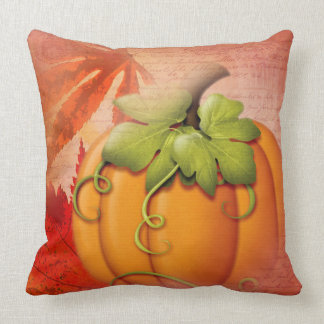 Rustic Thanksgiving and Autumn Throw Pillow