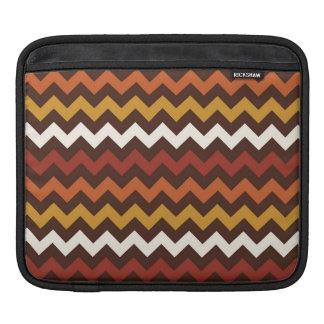 Rustic Thanksgiving Holiday Fall Autumn Chevron iPad Sleeves