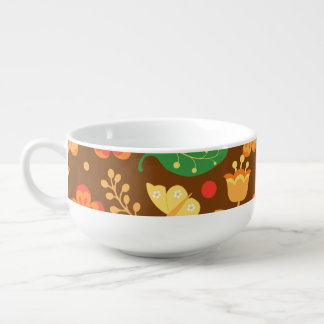 Rustic Thanksgiving Holiday Fall Autumn Colorful Soup Mug