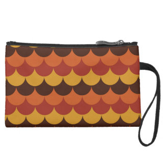 Rustic Thanksgiving Holiday Fall Autumn Colorful Suede Wristlet