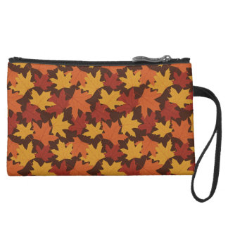 Rustic Thanksgiving Holiday Fall Autumn Colorful Wristlet Clutch