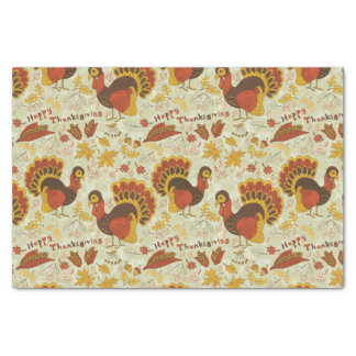 Rustic Thanksgiving Holiday Fall Autumn Colourful Tissue Paper