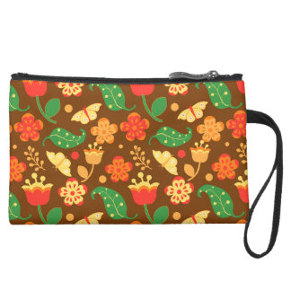 Rustic Thanksgiving Holiday Fall Autumn Wristlet