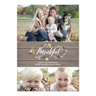 Rustic thanksgiving Photo Card 13 Cm X 18 Cm Invitation Card