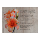 Rustic Tiger Lilies Wedding Invitations