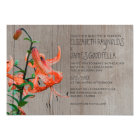 Rustic Tiger Lily Wedding Invitations