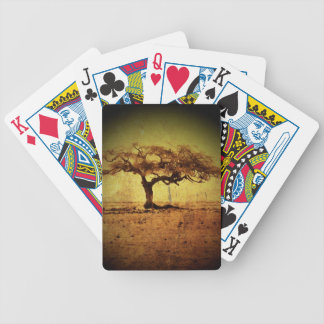 Rustic Tree Bicycle Playing Cards