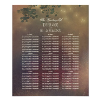 Rustic Tree Branches Wedding Seating Chart