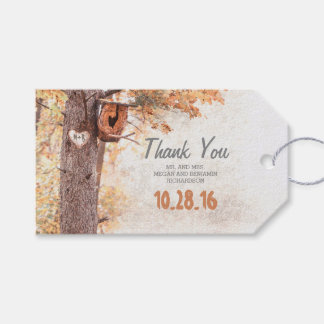 Rustic Tree Carved Heart Fall Wedding