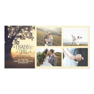 Rustic Tree Dream Summer Wedding Thank You Card