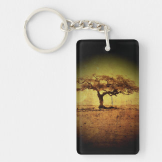 Rustic Tree Key Ring