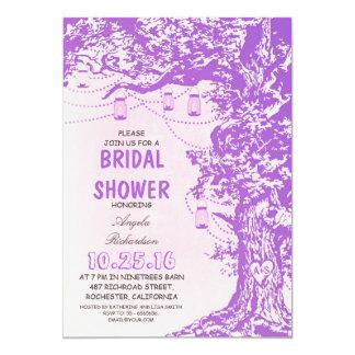 "Rustic tree & mason jars bridal shower invitations 5"" x 7"" invitation card"