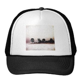 Rustic trees in the mist scene mesh hats