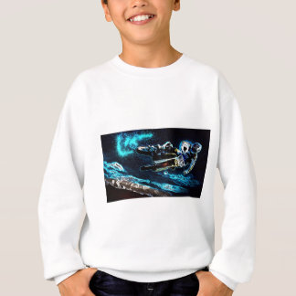 rustic trendy grunge racing motorcycle biker sweatshirt