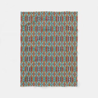 Rustic Tribe Mosaic Native American Indian Pattern Fleece Blanket