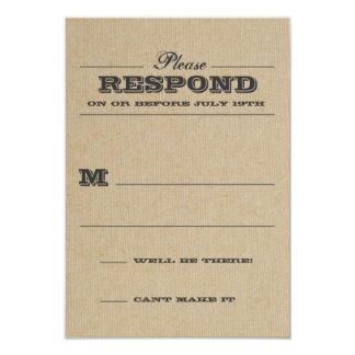 "Rustic Trophy Gray Response 3.5"" X 5"" Invitation Card"