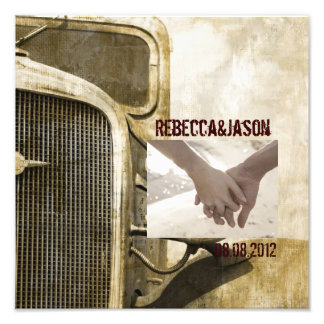 Rustic Truck Western Country Farm Wedding Photo Art