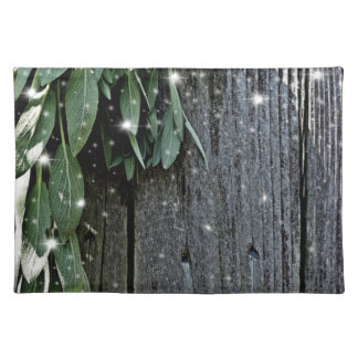 Rustic twinkle lights Sage Placemat