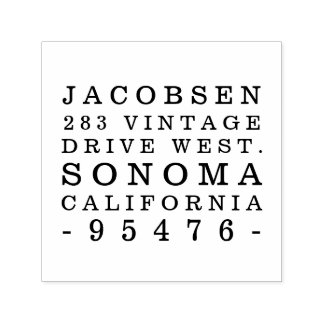 Rustic Typography Return Address Stamp