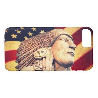 Rustic USA flag patriotic Native American iPhone 8/7 Case