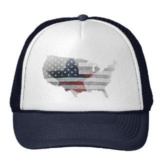 Rustic USA Flag Star Cap
