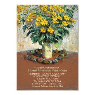 Rustic Vase Sunflower Mason Jar 4.5x6.25 wedding 11 Cm X 16 Cm Invitation Card