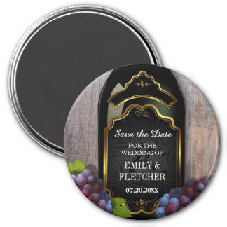 Rustic Vineyard Winery Save the Date Wedding 7.5 Cm Round Magnet