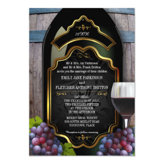 Rustic Vineyard Winery Wedding Card