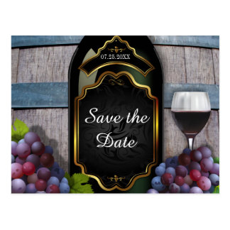 Rustic Vineyard Winery Wedding Save the Date Post Cards